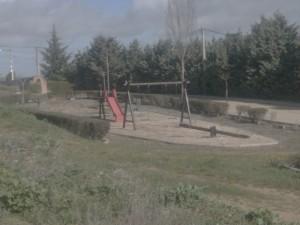 Antigua barrera donde se daba de beber al ganado, reconvertida en parque